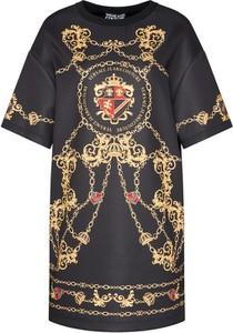 Sukienka Versace Jeans z okrągłym dekoltem mini