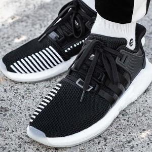 Czarne buty sportowe Adidas w sportowym stylu sznurowane