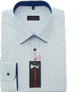Koszula Klasyka Kielce z długim rękawem z klasycznym kołnierzykiem z bawełny