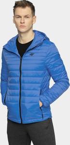 Niebieska kurtka 4F krótka w stylu casual