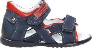 Granatowe buty dziecięce letnie EMEL na rzepy
