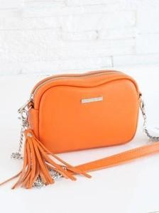 Pomarańczowa torebka Fabiola w stylu glamour