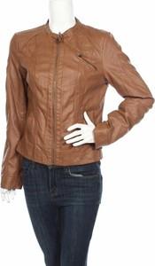 Brązowa kurtka Only ze skóry w stylu casual