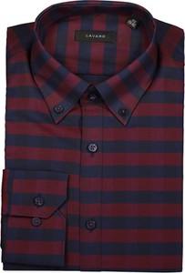 Czerwona koszula Lavard z długim rękawem z bawełny