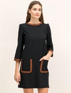Sukienka Marella z długim rękawem z okrągłym dekoltem mini
