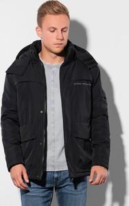 Czarna kurtka Ombre w stylu casual