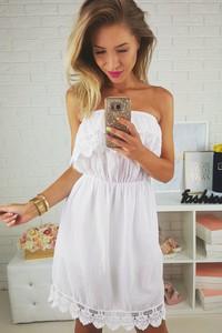 49aa5b119 biała sukienka ażurowa - stylowo i modnie z Allani