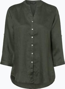 Zielona bluzka Franco Callegari z długim rękawem z lnu