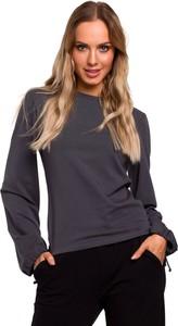 Bluzka MOE w stylu casual z długim rękawem z bawełny