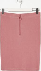 Różowa spódnica Sinsay w stylu casual mini