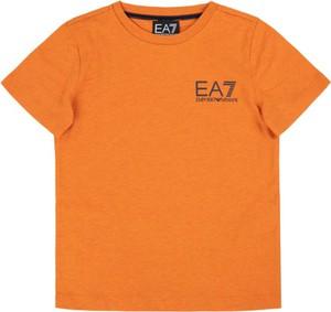 Pomarańczowa koszulka dziecięca Emporio Armani z krótkim rękawem