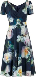 Sukienka Poza mini z krótkim rękawem kopertowa