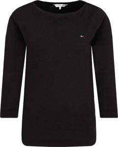 Czarna bluzka Tommy Hilfiger z okrągłym dekoltem