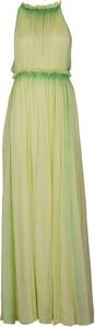 Zielona sukienka Alberta Ferretti bez rękawów maxi