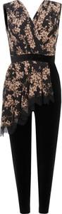 Kombinezon Elisabetta Franchi z jedwabiu w stylu boho z długimi nogawkami