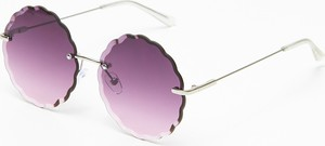 Fioletowe okulary damskie Cropp w stylu retro