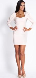 Sukienka Dursi mini dopasowana z długim rękawem