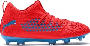 Czerwone buty sportowe dziecięce Puma sznurowane