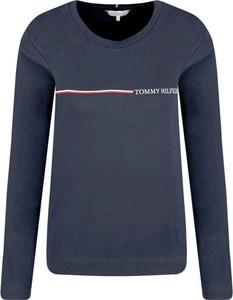 Niebieska bluzka Tommy Hilfiger w stylu casual