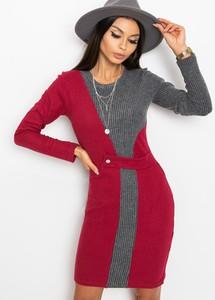 Czerwona sukienka Sheandher.pl mini z bawełny w stylu casual