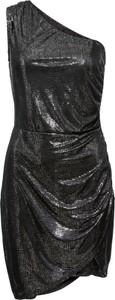 Sukienka bonprix BODYFLIRT boutique asymetryczna w stylu glamour z asymetrycznym dekoltem