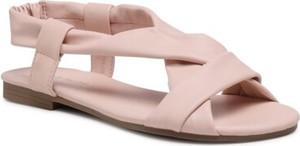 Różowe sandały Jenny Fairy w stylu casual z klamrami z płaską podeszwą