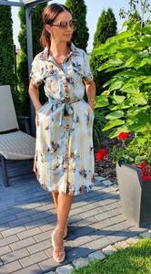 Sukienka Hypnotize Butik z dekoltem w kształcie litery v z jeansu