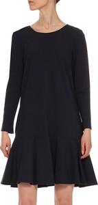 Czarna sukienka Yuliya Babich z okrągłym dekoltem mini w stylu casual