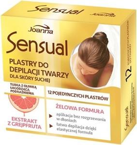 Joanna, Sensual, plastry do depilacji twarzy Grejpfrut, skóra sucha, 1 op.-12szt