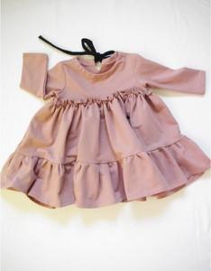 Fioletowa sukienka dziewczęca Fajnieubieramy z dzianiny