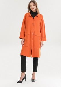Pomarańczowy sweter born2be w stylu casual