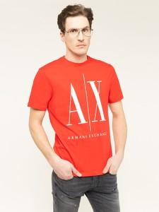 T-shirt Armani Exchange z krótkim rękawem z okrągłym dekoltem w młodzieżowym stylu
