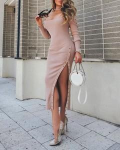 Sukienka Kendallme z długim rękawem asymetryczna