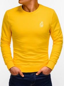 Żółta bluza Edoti z nadrukiem