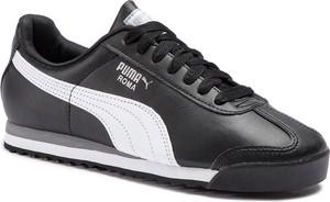 Buty sportowe Puma w sportowym stylu ze skóry ekologicznej sznurowane
