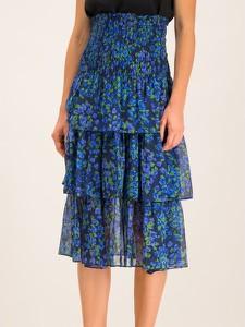 Niebieska sukienka The Kooples gorsetowa mini