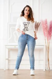 Jeansy Sklep XL-ka w street stylu z bawełny