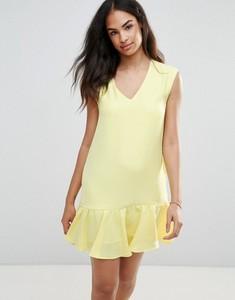Żółta sukienka Frnch baskinka