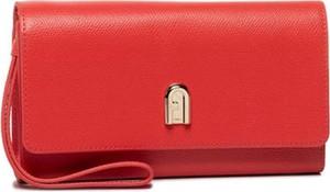 Czerwona torebka Furla mała na ramię