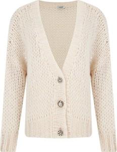 Różowy sweter Liu-Jo z wełny