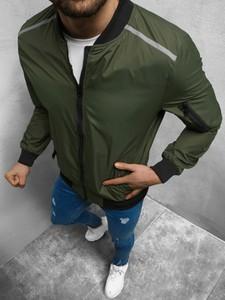 Zielona kurtka ozonee.pl w stylu casual