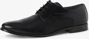 Czarne buty Bugatti sznurowane