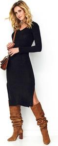 Sukienka Makadamia z długim rękawem prosta