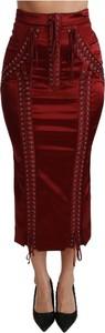 Czerwona spódnica Dolce & Gabbana