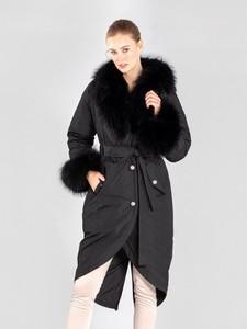 Czarny płaszcz Ochnik