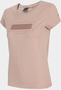 T-shirt 4F z okrągłym dekoltem w sportowym stylu z bawełny