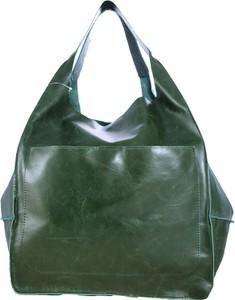 Zielona torebka TrendyTorebki ze skóry w wakacyjnym stylu na ramię