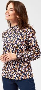 Bluzka Moodo z okrągłym dekoltem z bawełny z długim rękawem