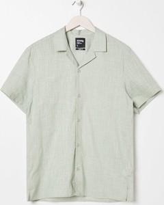Zielona koszula Sinsay z krótkim rękawem