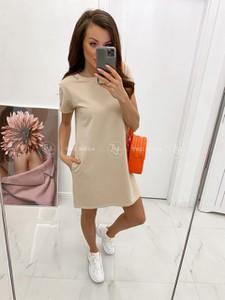 Sukienka Tmc Moda z bawełny z długim rękawem mini